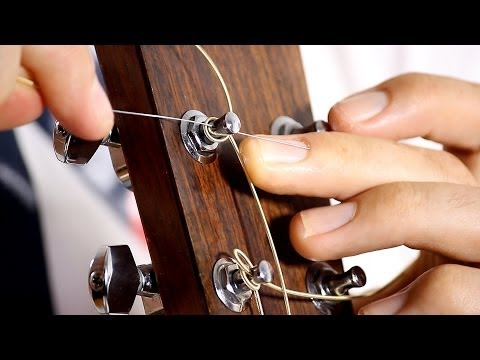 How to Change your Guitar Strings - Acoustic Guitar Maintenance