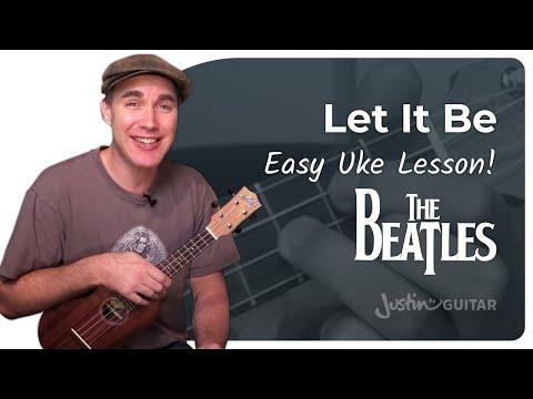 UKE: Let It Be - The Beatles - Ukulele Lesson (US-102)